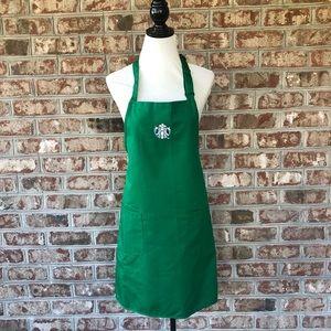Authentic Starbucks Green Barista Apron Costume OS